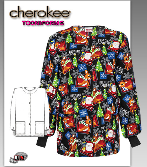 Cherokee Tooniforms Rudolfh Snap Front Warm-Up Jacket