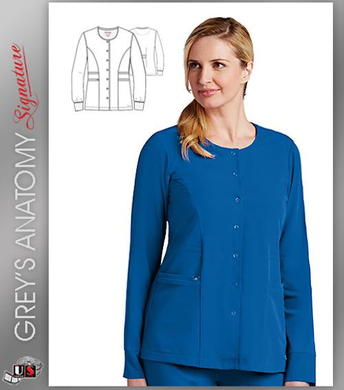 Grey's Anatomy Signature Series Women's 2 Pocket Snap Front Jacket