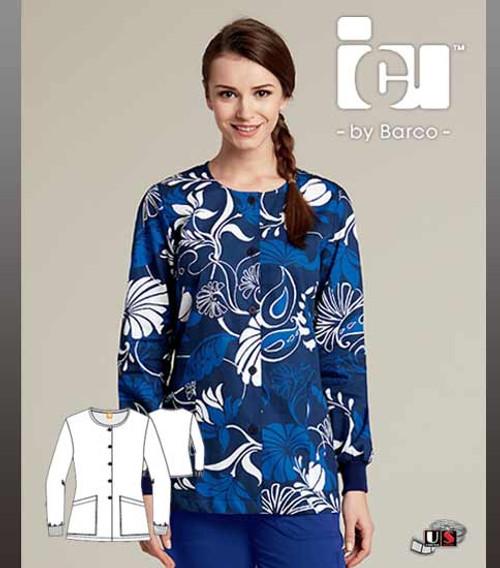 ICU By Barco Uniforms Nathalie Women's 2 Pocket Warm Up Jacket