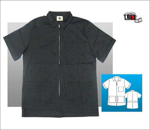 "Black Star 3 Pocket Zip Shirt 29"" Men's Lab Coat"