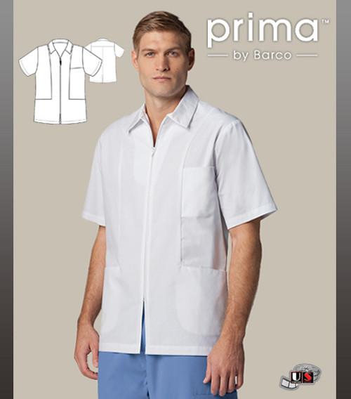 "Barco White 30"" 3 Pocket Zip Shirt Men's  Lab Coat"