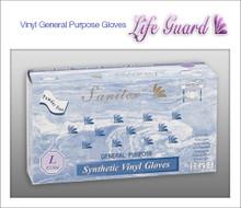 SANITEX General Purpose Vinyl Gloves - Powder Free - 100 Gloves / Box