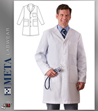 "862 Meta Men's Xstatic Labcoat 38"" Length"