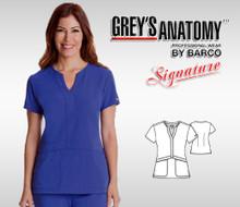 Grey's Anatomy™ Signature arclux™ With 4-Way Stretch 2 Pocket Mock-Wrap