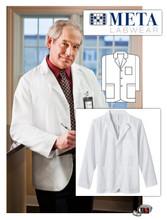 META Labwear Men's 6-Pocket Consultation Lab Coat