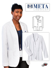 "META Labwear Women's Consultation 28"" Lab Coat"