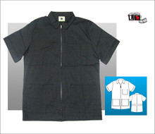 "Black Star 3 Pocket Zip Shirt 29"" Men's Lab Coat"