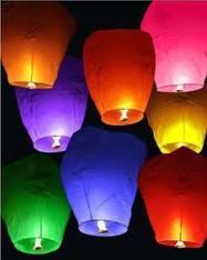 Flying Sky Lanterns- Assorted Colors