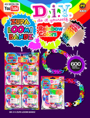 Zupa Loomi Bandz- Rainbow Colors 600 Pack