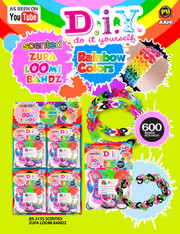 Zupa Scented Loomi Bandz Rainbow Colors 600 Pack