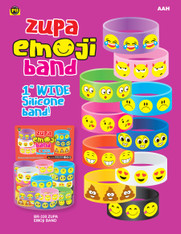 "Zupa Emoji 1"" Wide Silicone Bands"