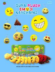 Zupa Plush Emoji Keychains