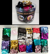 Two-Tone Sequin Cuff Bracelets In 12 Colors