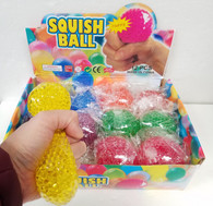 Light Up Flashing Squish Balls Solid Colors