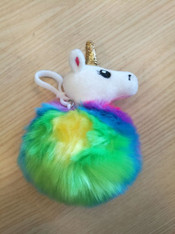 Lucky Unicorn Rainbow Plush Clip On
