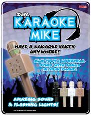 Bluetooth Karaoke Mike With LED Lights