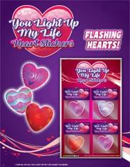 Cute Flashing Heart Stickers