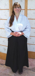 Zen Hakama skirt for meditation and Zazen, unisex version.