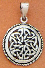 Twin Circles Sacred Knot Pendant