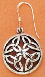 Round Sacred Knot Celtic Earrings