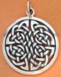 Sacred Knot Silver Pendant