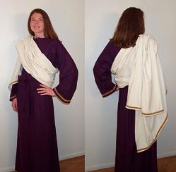 Serenity meditation robe in raw silk.