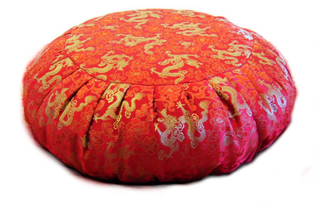 Silk brocade zafu meditation cushion is beautiful and inspiring too.