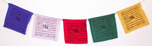 "Tibetan Prayer Flags, Medium 5"", 5 sets"