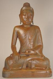 "Earth Witness Buddha, 15""H"