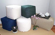 Bean Bag Ottoman  Cotton Cylinder