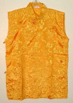 Tibetan Meditation Shirt, short sleeve, decorative fabric.