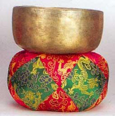 "Tibetan Singing Bowl, 13"" -- Make beautiful music with this authentic Tibetan singing bowl or use it to signify the beginning and end of silent meditation."