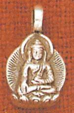 Buddha Earrings, sterling
