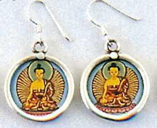 Buddha Earrings, Full color