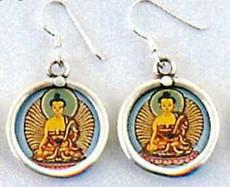 Buddha Earrings, Full color