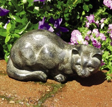 Watchful Cat garden statue