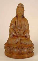Kwan Yin Seated On Single Lotus
