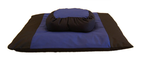 Two Tone Zafu Zabuton Set, Half Moon comes in a variety of beautiful easy care colors.