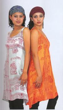 Deity Mantra Dress is comfortable and makes a statement with sacred words and images.