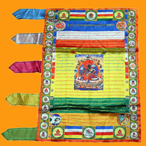 Green Tara Vertical Prayer Flag