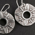 7-8OL Embossed PMC Earrings