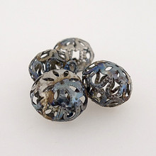 "Metal Filigree Beads - ""Arabesque"""