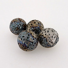 "Metal Filigree Beads - ""Chintz"""