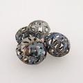 "Metal Filigree Beads - ""Arabesque"""