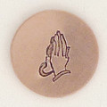 Prayer Hands Metal Stamp Sample