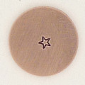 Tiny 1.5mm Star Metal Stamp Sample