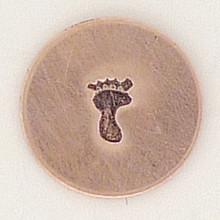 Left Solid Baby Footprint Metal Stamp Sample