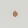 Copper Round Tag with Ring