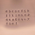 Corvus 3mm Lowercase Stamp Set Sample