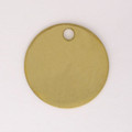 Brass Blank Round Disc with hole. 33mm, 19gauge.